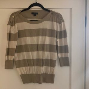 Banana republic m cream stripe sweater
